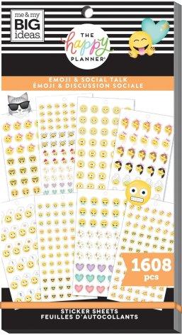 Me & My Big Ideas Happy Planner Sticker Value Pack - Emoji & Social Talk