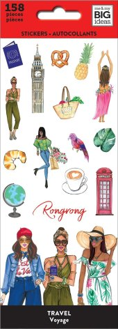 Me & My Big Ideas Stickers 158/Pkg - Rongrong Travel