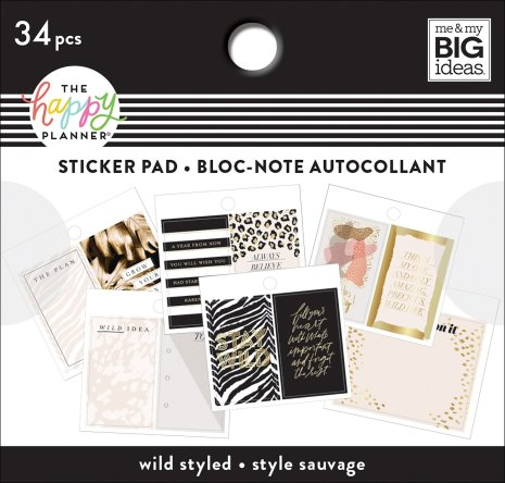 Me & My Big Ideas Happy Planner Tiny Sticker Pad - Wild Styled