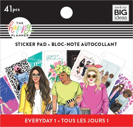 Me & My Big Ideas Happy Planner Tiny Sticker Pad - Rongrong Everyday 1