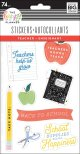 Me & My Big Ideas Happy Planner Stickers 5 Sheets - Teacher