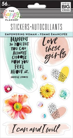 Me & My Big Ideas Happy Planner Stickers 5 Sheets -  Empowering Woman