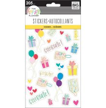 Me & My Big Ideas Happy Planner Stickers 5 Sheets - Icons