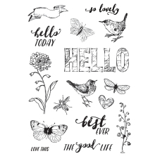 Simple Stories Simple Vintage Botanicals Clear Stamps 4X6 - Love Life