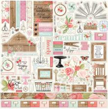 Carta Bella Farmhouse Market Cardstock Stickers 12X12 - Elements