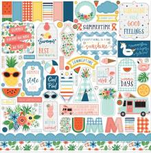 Echo Park Summertime Cardstock Stickers 12X12 - Elements