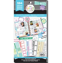 Me & My Big Ideas Happy Planner Sticker Value Pack - Colorful Boxes