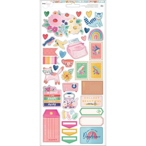 Dear Lizzy Cardstock Stickers 6X12 81/Pkg - She´s Magic