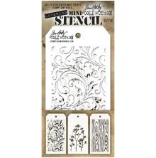 Tim Holtz Mini Layered Stencil Set 3/Pkg - Set 10