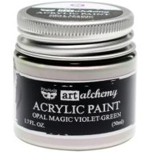 Prima Finnabair Art Alchemy Acrylic Paint 50ml - Opal Magic Green-Violet