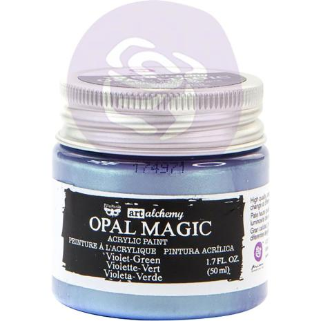 Prima Finnabair Art Alchemy Acrylic Paint 50ml - Opal Magic Violet/Green