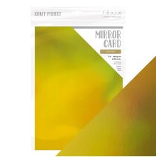 Tonic Studios Craft Perfect Mirror Card A4 - Inca Gold 9777E