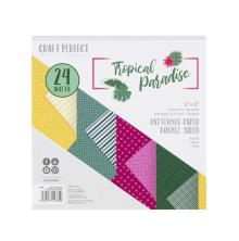 Tonic Studios Craft Perfect 6X6 Card Pack Patterned Paper - Tropical Paradise 93