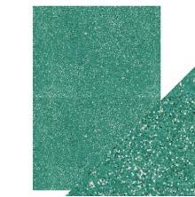 Tonic Studios Craft Perfect A4 Glitter Card - Turquoise Lake 9954E