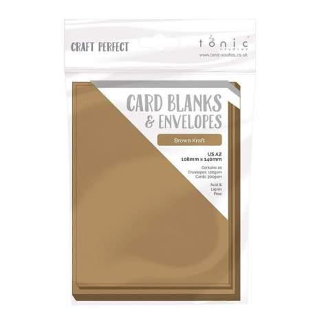 Tonic Studios Craft Perfect Cards & Envelopes A2 - Kraft 9255E