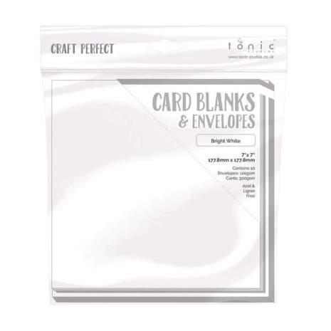 Tonic Studios Craft Perfect Cards & Envelopes 7X7 - Bright White 9302E