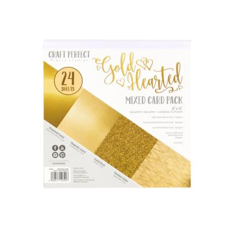 Tonic Studios Craft Perfect 6x6 Card Packs - Gold Hearted 9394E