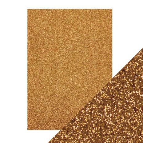 Tonic Studios Craft Perfect A4 Glitter Card - Welsh Gold 9942E