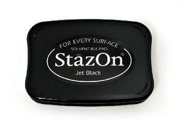 StazOn Solvent Inkpad Jet Black