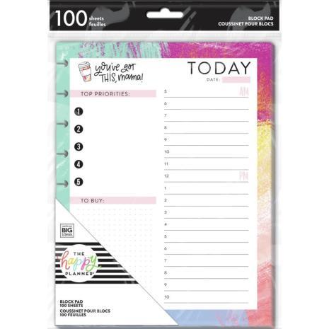 Me & My Big Ideas CLASSIC Planner Block Pad 100/Pkg - Mom