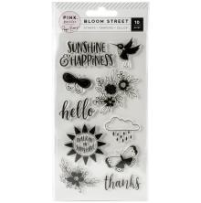 Paige Evans Clear Acrylic Stamps 10/Pkg - Bloom Street