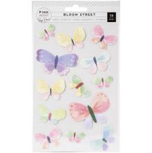 Paige Evans Dimensional Stickers 13/Pkg - Bloom Street Butterflies