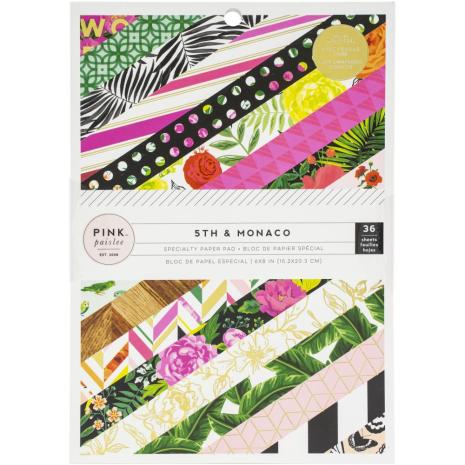 Pink Paislee Single-Sided Paper Pad 6X8 36/Pkg - 5th & Monaco