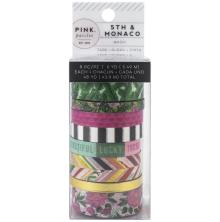 Pink Paislee Washi Tape 8/Pkg - 5th & Monaco