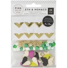 Pink Paislee Mixed Embellishments - 5th & Monaco