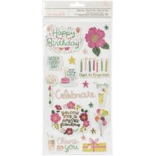 Pink Paislee And Many More Thickers Stickers 5.5X11 42/Pkg - Party Time Phrase