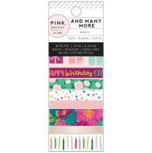 Pink Paislee Washi Tape 8/Pkg - And Many More