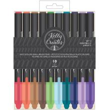 Kelly Creates Small Brush Pens 10/Pkg - Multicolor Set 2