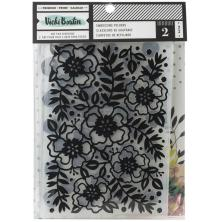Vicki Boutin Mixed Media Embossing Folders 6X8.5 2/Pkg - Lets Wander