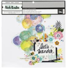 Vicki Boutin Mixed Media Backgrounds Paper 12X12 36/Pkg - Lets Wander