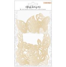 Crate Paper Wood Veneer Shapes 6/Pkg - Fresh Bouquet
