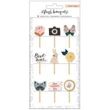 Crate Paper Decorative Clips 9/Pkg - Fresh Bouquet