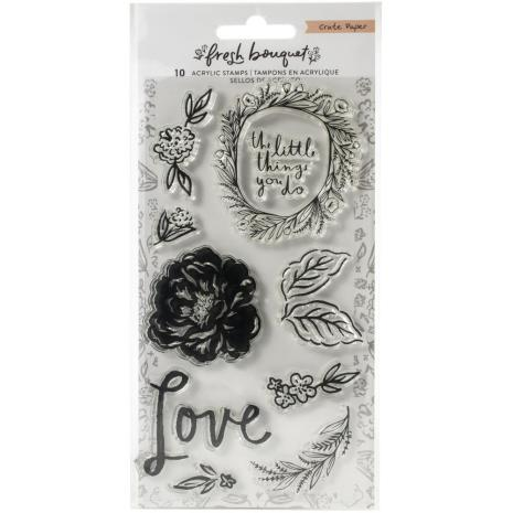 Crate Paper Acrylic Clear Stamps 10/Pkg - Fresh Bouquet