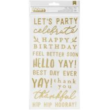Jen Hadfield Hey, Hello Thickers Stickers 5.5X11 178/Pkg - Phrases