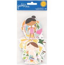Pebbles Ephemera Cardstock Die-Cuts 40/Pkg - Sun & Fun Icons