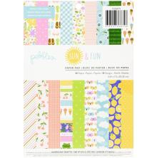 Pebbles Single-Sided Paper Pad 6X8 36/Pkg - Sun & Fun