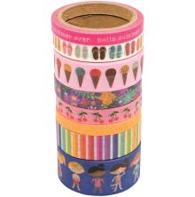 Pebbles Washi Tape 8/Pkg - Sun & Fun