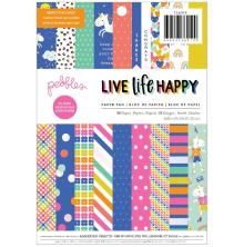 Pebbles Single-Sided Paper Pad 6X8 36/Pkg - Live Life Happy