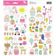 Pebbles Cardstock Stickers 6X12 81/Pkg - Live Life Happy Icons