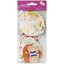 Pebbles Ephemera Cardstock Die-Cuts 40/Pkg - Live Life Happy Icons