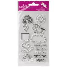 Pebbles Clear Stamps - Live Life Happy