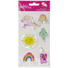 Pebbles Shaker Stickers 6/Pkg - Live Life Happy