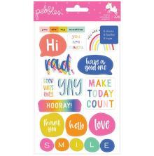 Pebbles Sticker Book 326/Pkg - Live Life Happy