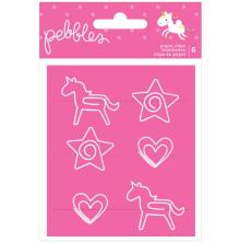 Pebbles Paper Clips 6/Pkg - Live Life Happy