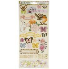 BoBunny Cardstock Stickers 6X12 - Garden Grove