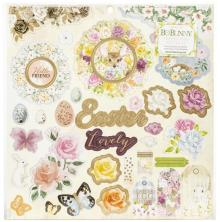 BoBunny Chipboard Stickers 12X12 - Garden Grove